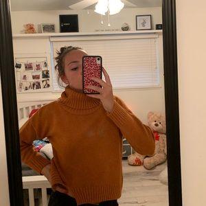 Women's short cropped sweater
